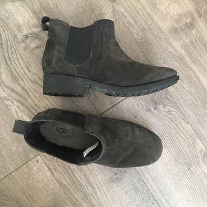 UGG Bonham II Suede Black Ankle Boot size 8.5